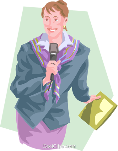 talk show host Royalty Free Vector Clip Art illustration peop3857