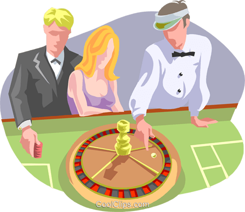 gambling Royalty Free Vector Clip Art illustration peop3866