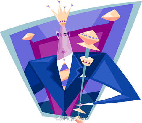 business king Royalty Free Vector Clip Art illustration peop3871