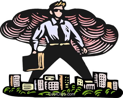 business man giant Royalty Free Vector Clip Art illustration peop3897