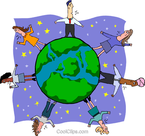 business global economy Royalty Free Vector Clip Art illustration peop3907