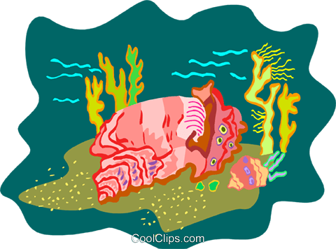 sea life Royalty Free Vector Clip Art illustration anim2180