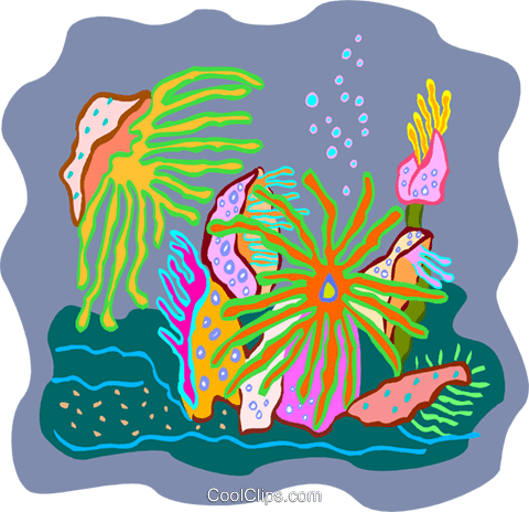 sea life Royalty Free Vector Clip Art illustration anim2184