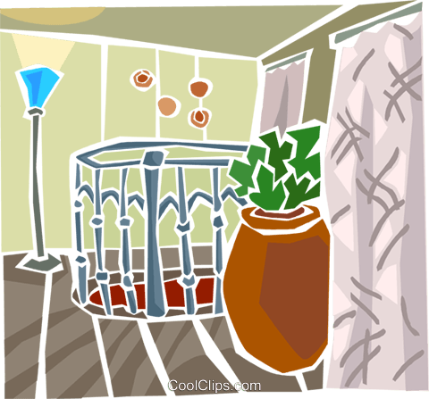 house interior Royalty Free Vector Clip Art illustration arch0538