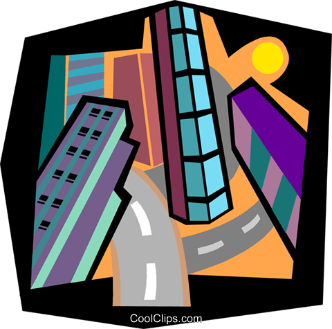 city scape Royalty Free Vector Clip Art illustration arch0553