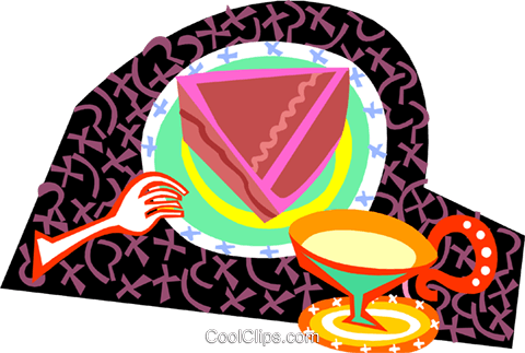dessert time Royalty Free Vector Clip Art illustration food1208