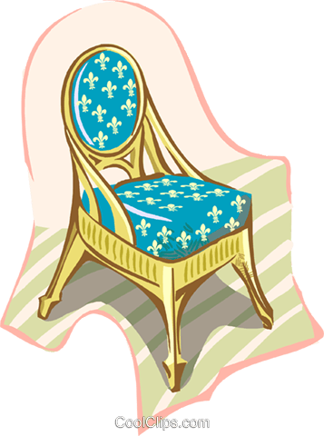 chair Royalty Free Vector Clip Art illustration hous1397