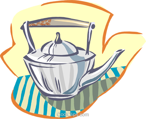 tea pot Royalty Free Vector Clip Art illustration hous1402