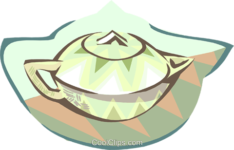 tea pot Royalty Free Vector Clip Art illustration hous1406