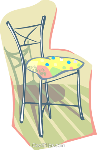 chair Royalty Free Vector Clip Art illustration hous1408