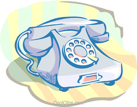 telephone Royalty Free Vector Clip Art illustration hous1410
