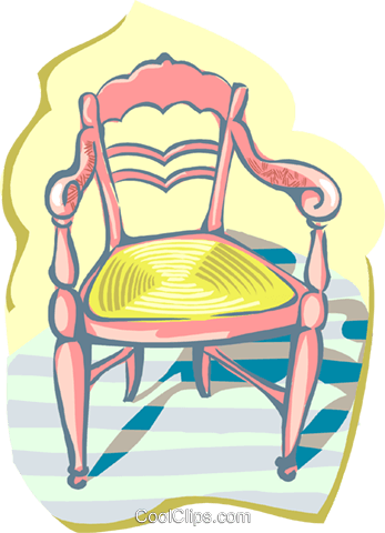 chair Royalty Free Vector Clip Art illustration hous1412