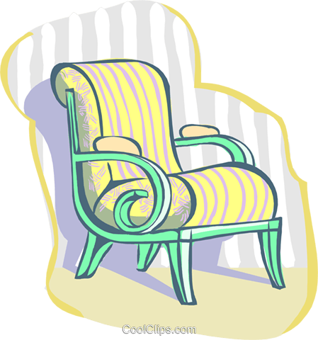 chair Royalty Free Vector Clip Art illustration hous1413