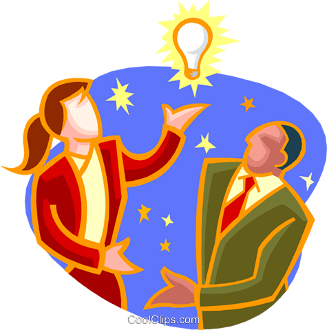 business idea Royalty Free Vector Clip Art illustration peop3929