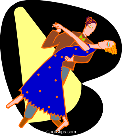 dancing couple Royalty Free Vector Clip Art illustration peop3934