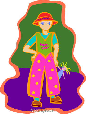 child with doll Royalty Free Vector Clip Art illustration peop3936