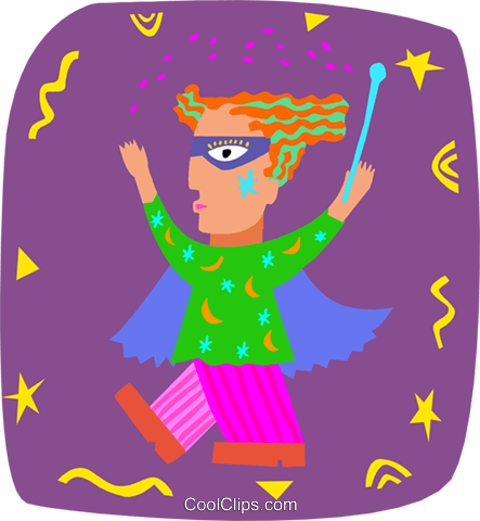 magician Royalty Free Vector Clip Art illustration peop3940
