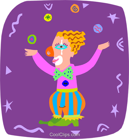 clown Royalty Free Vector Clip Art illustration peop3945
