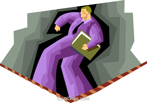business man walking tightrope Royalty Free Vector Clip Art illustration peop3947