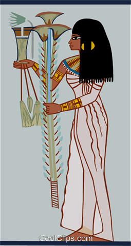 Egyptian woman Royalty Free Vector Clip Art illustration peop3951
