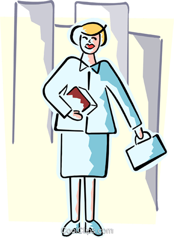 business woman Royalty Free Vector Clip Art illustration peop3986