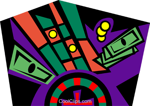 gambling Royalty Free Vector Clip Art illustration spor0438