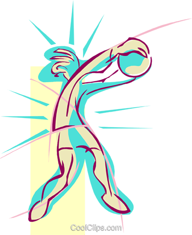 volleyball player Royalty Free Vector Clip Art illustration spor0440