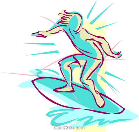 surfing Royalty Free Vector Clip Art illustration spor0443
