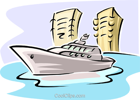 yacht Royalty Free Vector Clip Art illustration trav0162