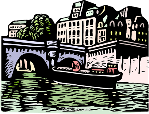 woodcut European cityscape Royalty Free Vector Clip Art illustration arch0556