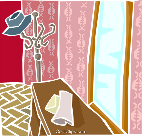 house interior Royalty Free Vector Clip Art illustration arch0557