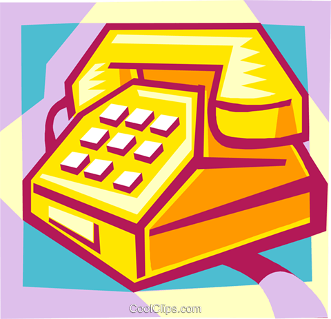 telephone Royalty Free Vector Clip Art illustration busi1783