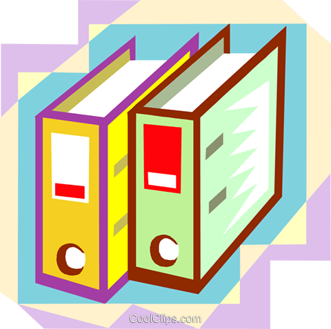 office binders Royalty Free Vector Clip Art illustration busi1784
