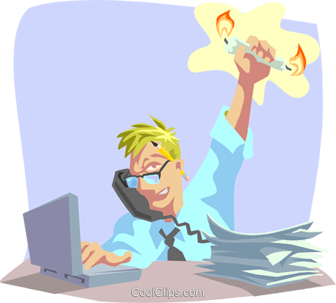 working hard Royalty Free Vector Clip Art illustration busi1792