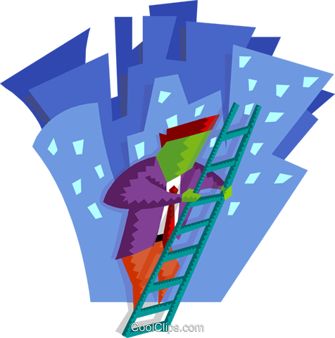business / climbing the corporate ladder Royalty Free Vector Clip Art illustration busi1800