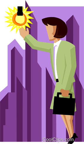 business woman reaching for brass ring Royalty Free Vector Clip Art illustration peop3996