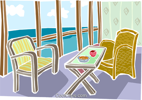 outdoor patio Royalty Free Vector Clip Art illustration arch0567