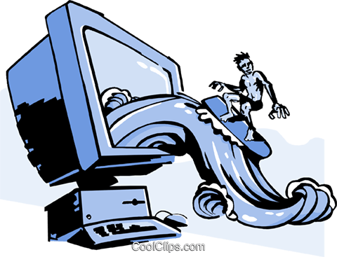 business / surfing the WEB Royalty Free Vector Clip Art illustration busi1823