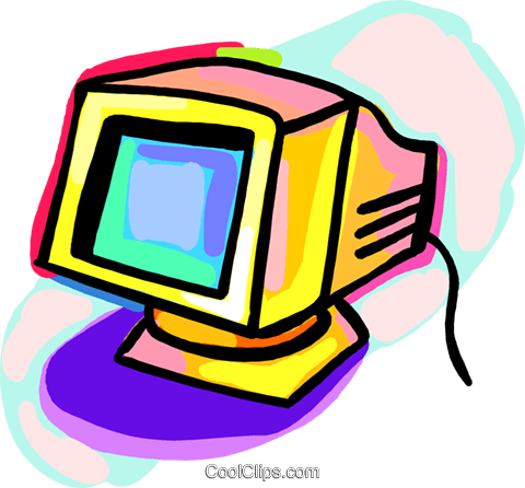 Computer monitor Royalty Free Vector Clip Art illustration busi1826