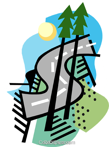 business / road to success Royalty Free Vector Clip Art illustration busi1831