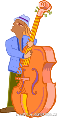 musician/bass guitarist Royalty Free Vector Clip Art illustration ente0175