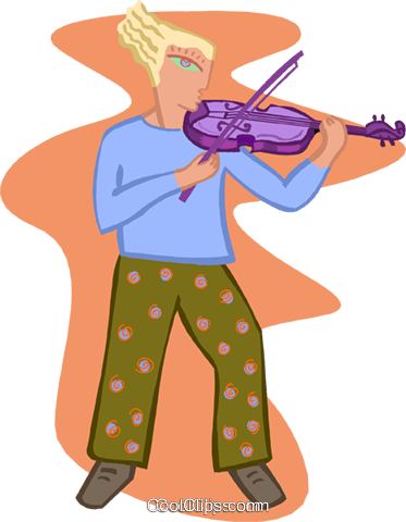 violinist Royalty Free Vector Clip Art illustration ente0176