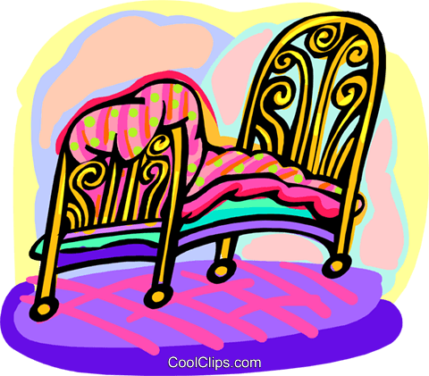 bed Royalty Free Vector Clip Art illustration hous1420