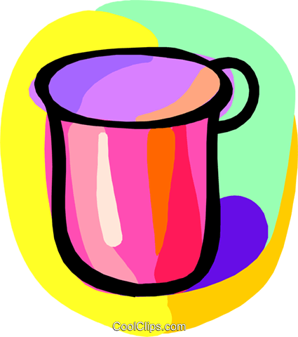 cup Royalty Free Vector Clip Art illustration hous1428