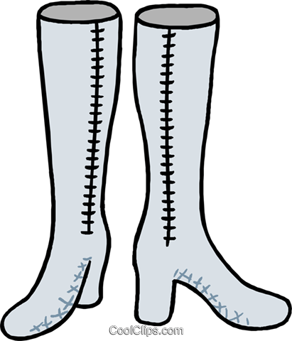 high boots Royalty Free Vector Clip Art illustration hous1443