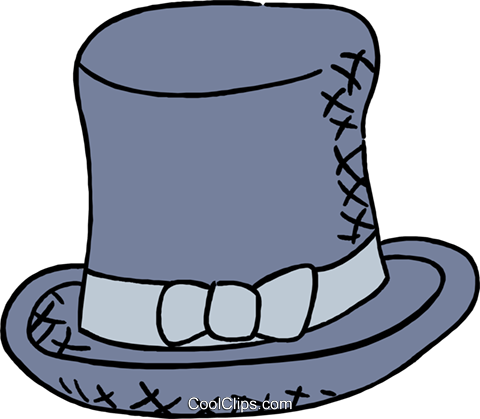 top hat Royalty Free Vector Clip Art illustration hous1444