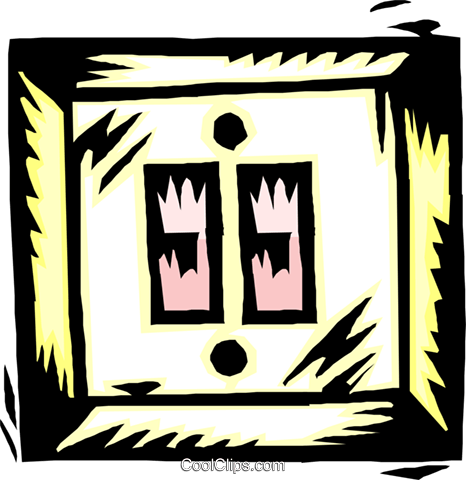 double light switch Royalty Free Vector Clip Art illustration indu1014