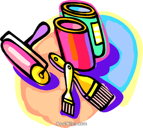 painting tools Royalty Free Vector Clip Art illustration indu1015