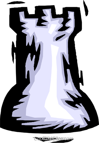 chess piece rook Royalty Free Vector Clip Art illustration spor0451