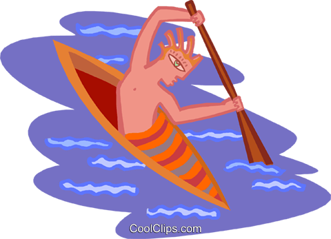 kayaking Royalty Free Vector Clip Art illustration spor0467